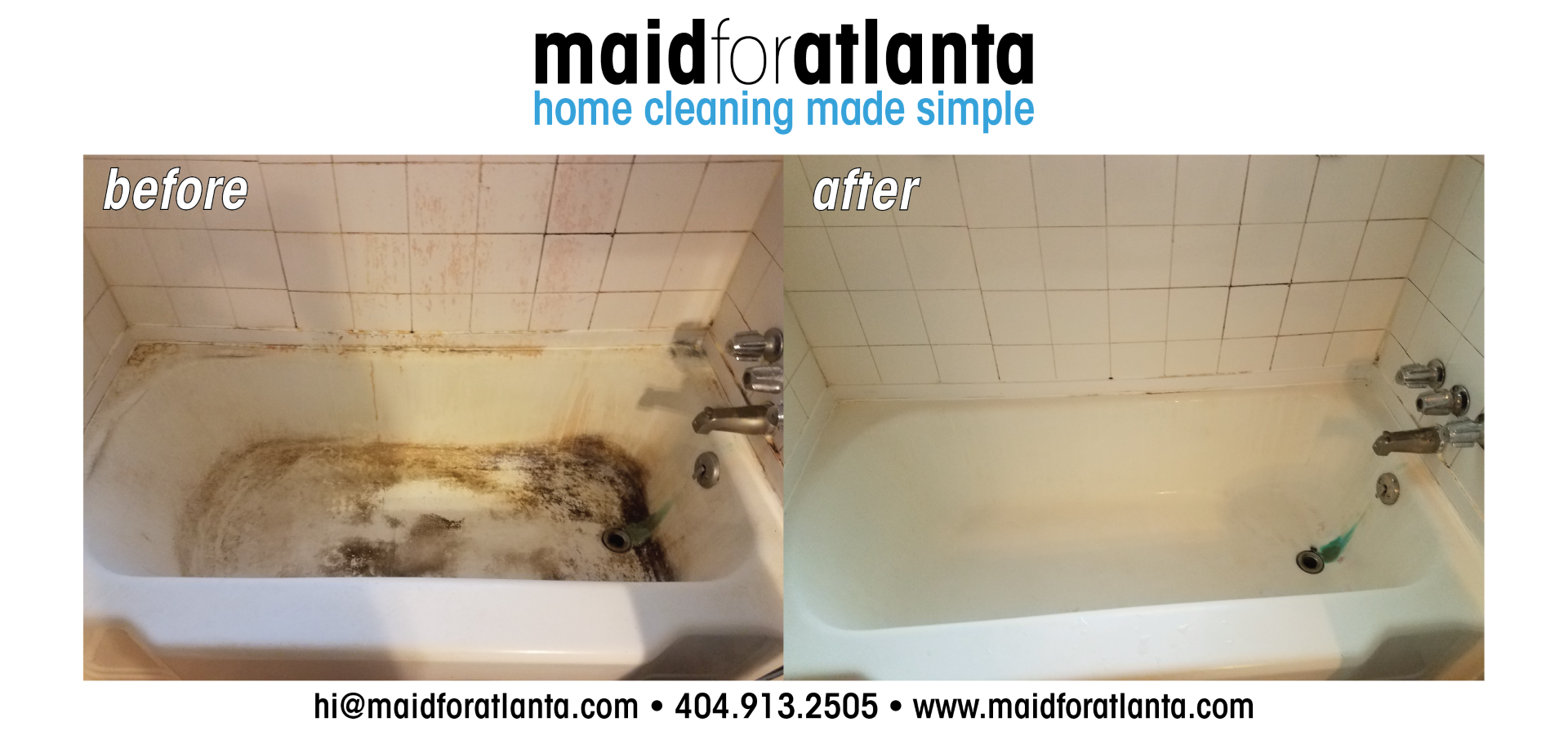 Maid For Atlanta - Before-After Dirty Tub-02