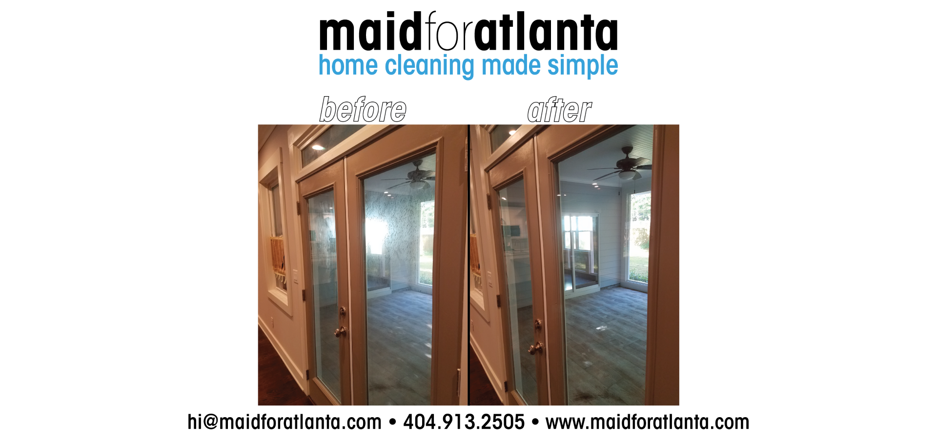 Maid For Atlanta - Before-After Glass Doors