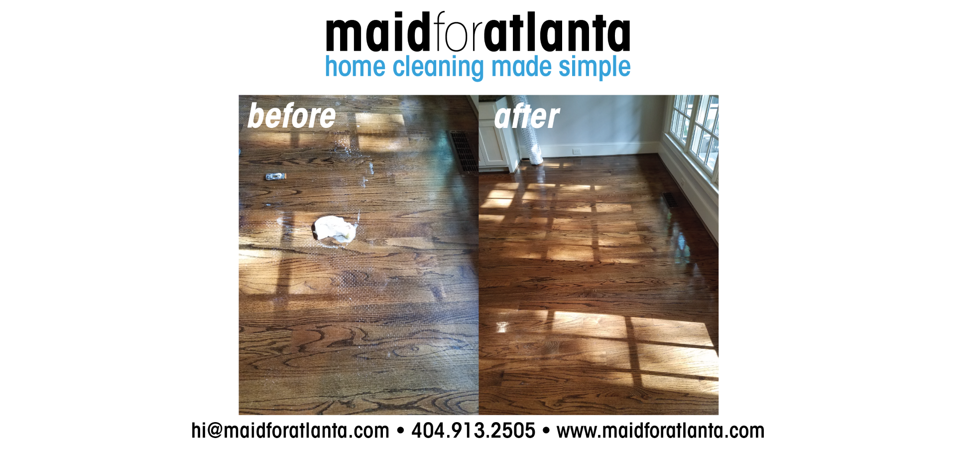 Maid For Atlanta - Before-After Rug Pad Floor
