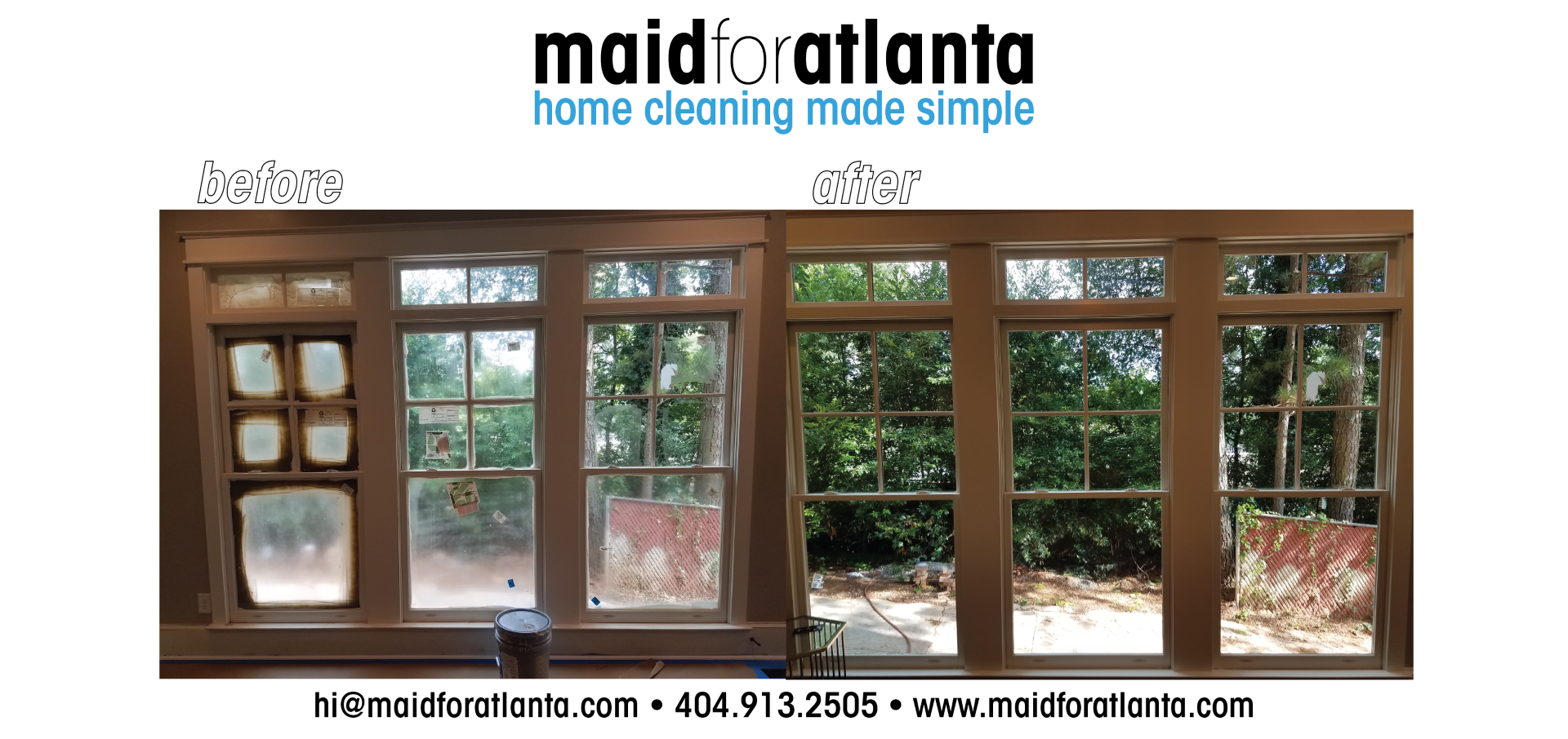 Maid For Atlanta - Before-After Triple Windows