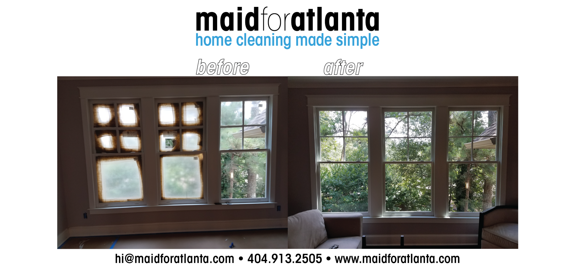 Maid For Atlanta - Before-After Triple Windows2