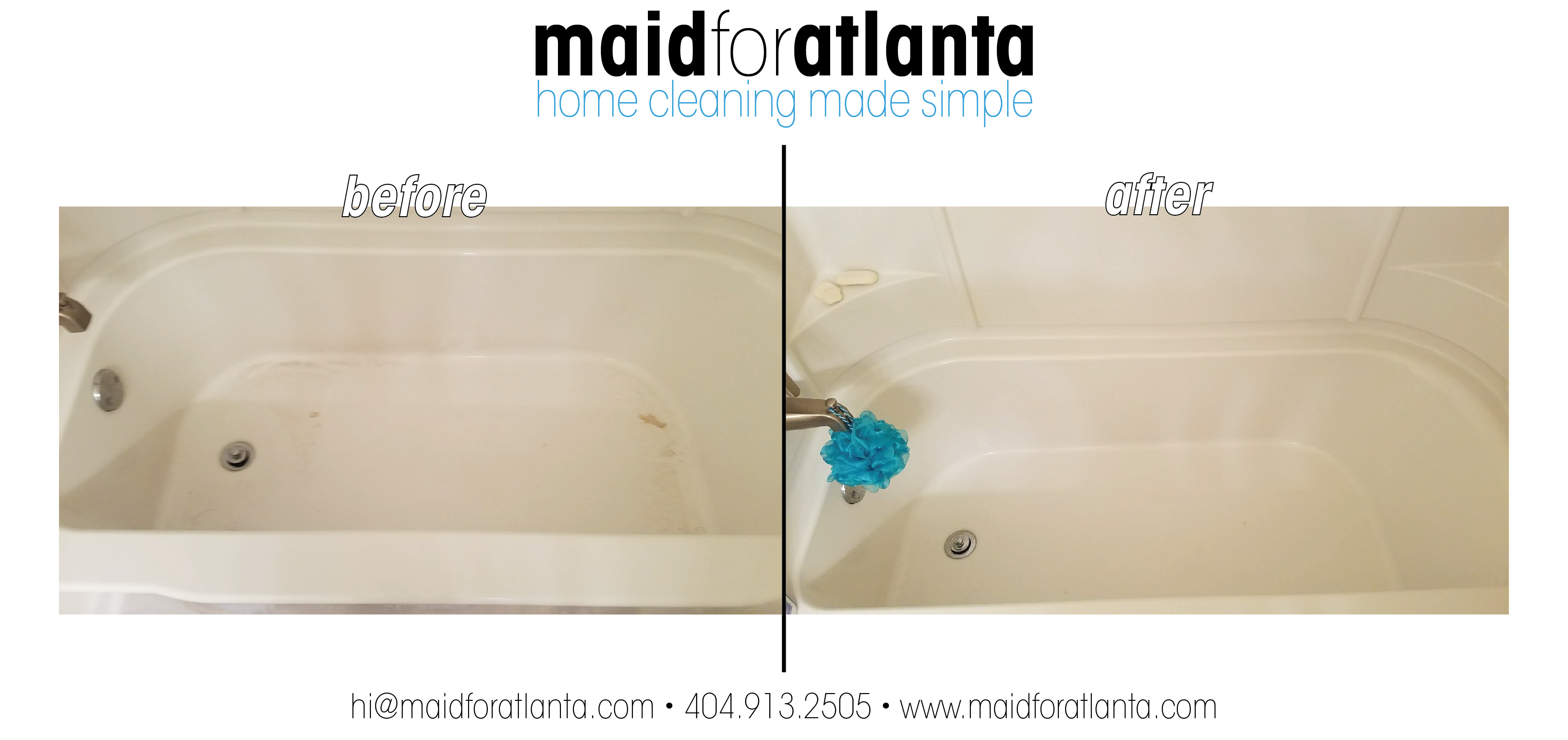 Maid For Atlanta - Before-After tub3-01